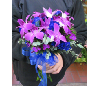 Dendrobian Orchid Prom Bouquet in Royersford PA, Three Peas In A Pod Florist