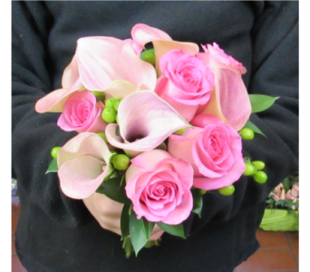 Calla Lily and Rose Prom Bouquet in Royersford PA, Three Peas In A Pod Florist