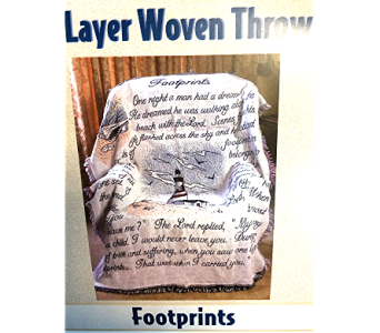 Footprints with lighthouse in Fayetteville GA, Our Father's House Florist & Gifts
