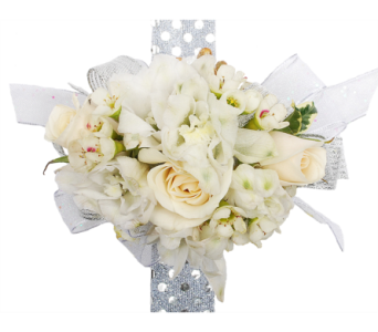 White Spray Roses and White Dendrobium Orchids in Madison WI, Felly's Flowers