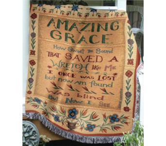 Amazing Grace Throw Blanket in Ambridge PA, Heritage Floral Shoppe