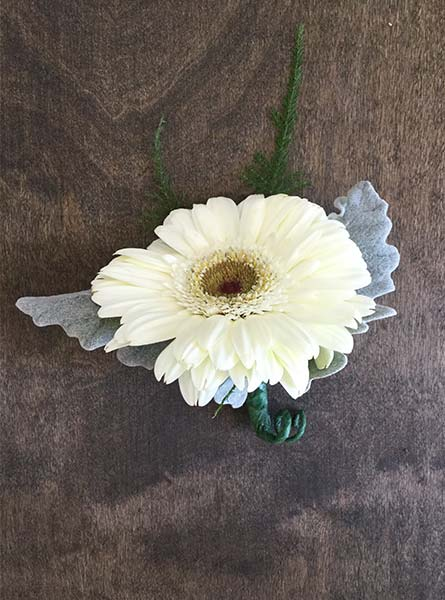 Gerbera Daisy Boutonniere in Arlington Heights IL, Sylvia's - Amlings Flowers