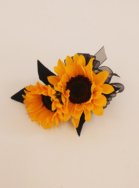 Sunflower Corsage in Raleigh NC, Fallon's Flowers