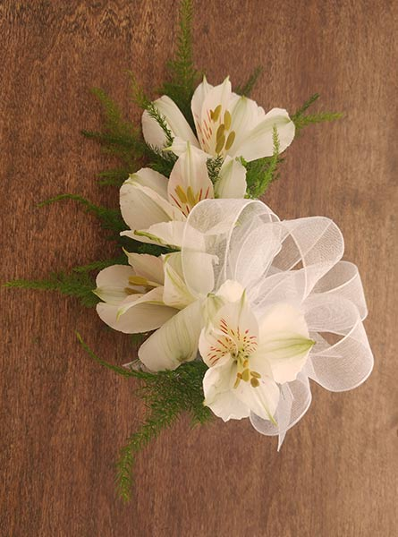 Alstroemeria Corsage in Raleigh NC, Fallon's Flowers