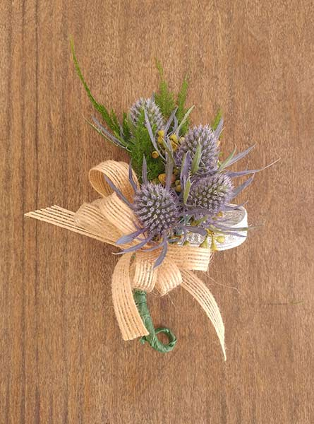 Thistle Corsage in Raleigh NC, Fallon's Flowers