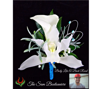 The Sam Boutonniere in Indianapolis IN, Steve's Flowers and Gifts