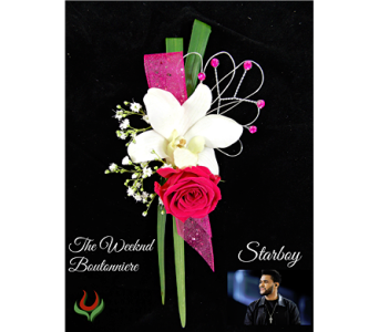 The Weeknd Boutonniere in Indianapolis IN, Steve's Flowers and Gifts