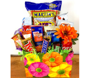 Gerbera Snax Box by Raimondi''s Florist in Baltimore MD, Raimondi's Flowers & Fruit Baskets