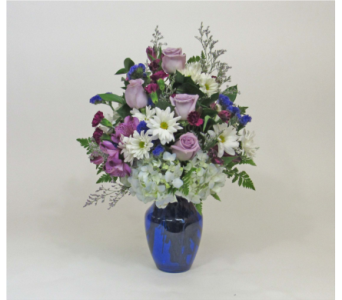 Violets and Blue in Royersford PA, Three Peas In A Pod Florist