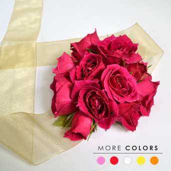 Classic Rose Corsage in Dallas TX, Dr Delphinium Designs & Events