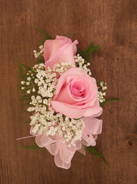 Pink Roses Corsage in Augusta GA, Martina's Flowers & Gifts