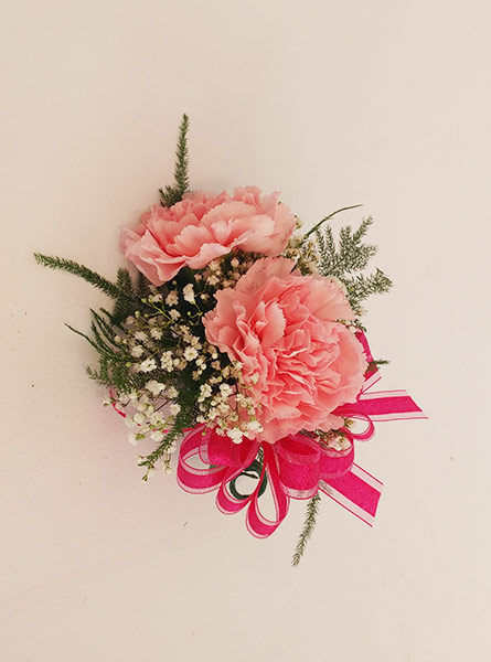 Pink Carnation Corsage in Winston-Salem NC, George K. Walker Florist