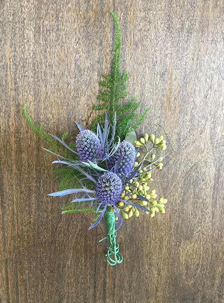 Thistle Boutonniere in Manchester NH, Chalifour's Flowers