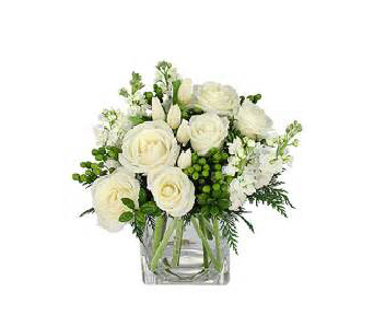Cube of white in Mooresville NC, All Occasions Florist & Boutique