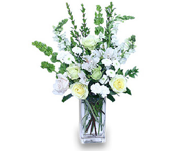 Vase of White in Mooresville NC, All Occasions Florist & Boutique