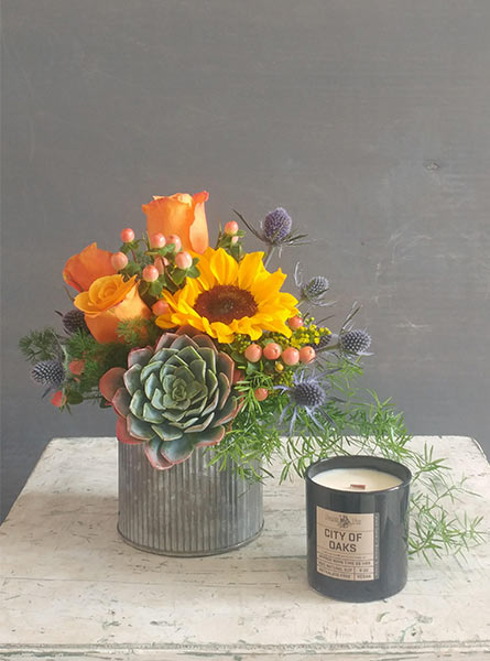 Gayles Gift Bundle (includes candle) in Raleigh NC, Fallon's Flowers