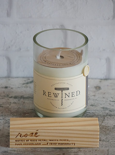 Rewined Rose Candle in Manchester NH, Chalifour's Flowers