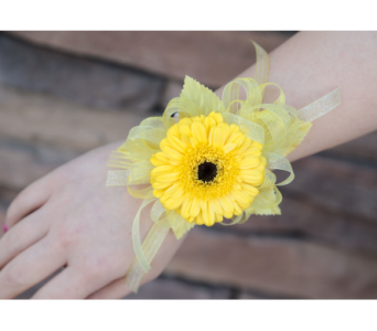 Happy Daisy Corsage in Meridian ID, Meridian Floral & Gifts