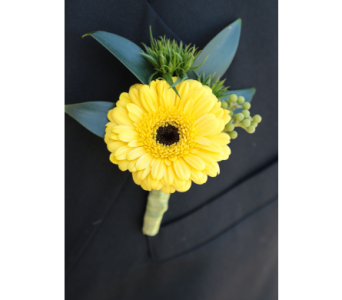 Happy Daisy Boutonniere  in Meridian ID, Meridian Floral & Gifts