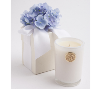 Blue Hydrangea Candle in Little Rock AR, Tipton & Hurst, Inc.