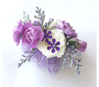 Lavender Wrist Corsage in Schofield WI, Krueger Floral and Gifts