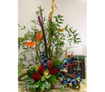 Island Paradise in Brentwood CA, Flowers By Gerry