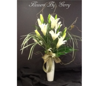 White Lightening in Brentwood CA, Flowers By Gerry