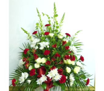 Red and White Traditional in Warren MI, Downing's Flowers & Gifts Inc.