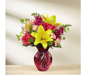 The FTD Happy Spring Bouquet in Norfolk VA, The Sunflower Florist