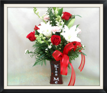 Kiss Me Bouquet in Tyler TX, The Flower Box