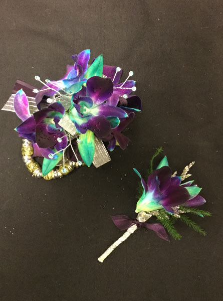 Purple Boutonniere and Corsage in Augusta GA, Martina's Flowers & Gifts