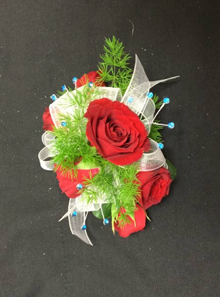 Red and Green Corsage in Augusta GA, Martina's Flowers & Gifts
