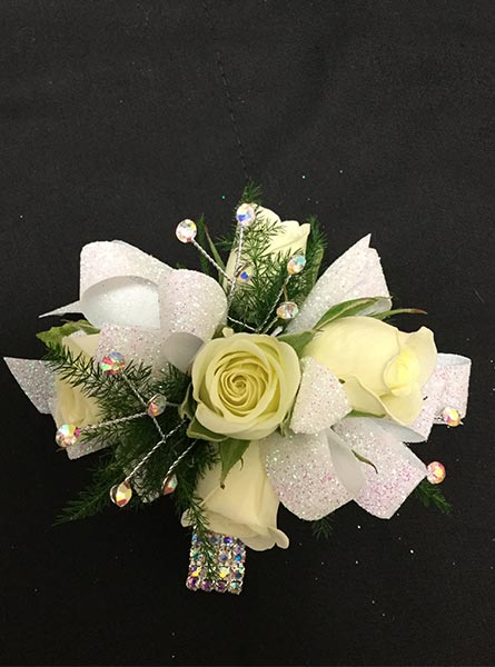 White Rose Corsage in Augusta GA, Martina's Flowers & Gifts