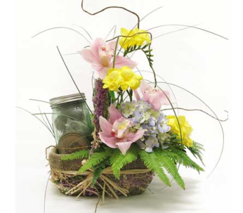 Garden in a Jar in Amherst NY, The Trillium's Courtyard Florist