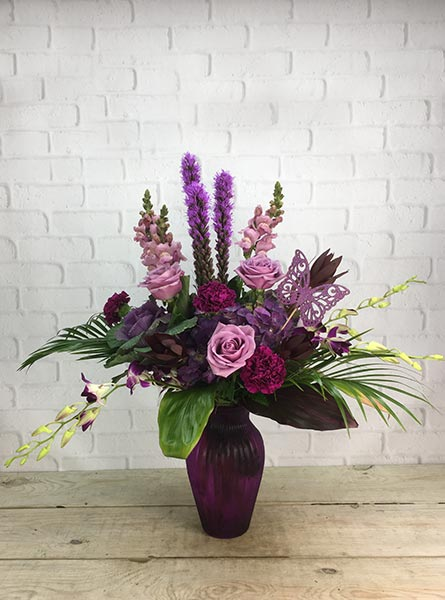 Purple Passion in Raleigh NC, Fallon's Flowers