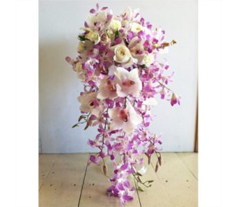 Pink Orchid Bouquet in Chelsea MI, Chelsea Village Flowers