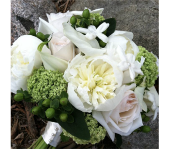 White Peony Bouquet in Chelsea MI, Chelsea Village Flowers
