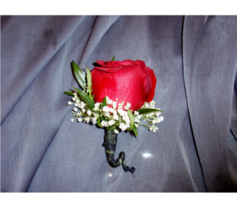 beautiful rose boutonniere in Riverside CA, Riverside Mission Florist