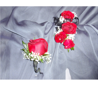 corsage and boutonniere combo  in Riverside CA, Riverside Mission Florist