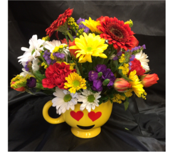 Love Emoji Mug in Chicago IL, La Salle Flowers