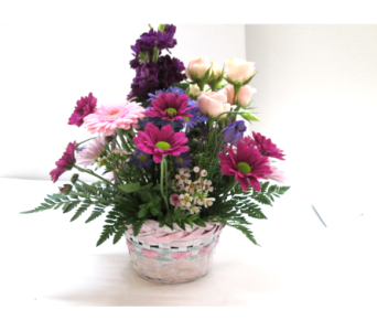 Mixed Pastel Basket in Worcester MA, Holmes Shusas Florists, Inc