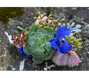 Cosmic Blue Boutonniere in Indianapolis IN, Gillespie Florists