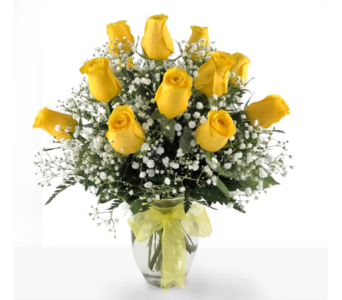 Dozen Yellow Roses in Southfield MI, Thrifty Florist
