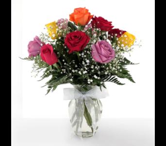 dozen rainbow roses in southfield mi thrifty florist