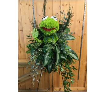 Standing Spray  - Kermit the Frog in Moorhead MN, Country Greenery