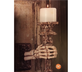 Bethany Lowe Skeleton Hand Wall Sconce  in Bellevue WA, CITY FLOWERS, INC.