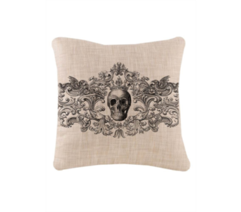 Heritage Lace Gothic Skull Pillow 18X18   in Bellevue WA, CITY FLOWERS, INC.