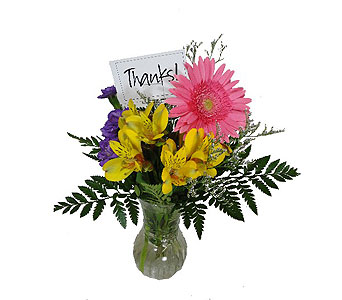 Note of Thanks Bouquet in Duluth MN, Engwall Florist & Gifts