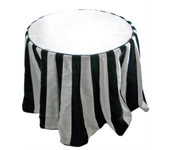 Katherine�s Collection black and white tablecloth  in Bellevue WA, CITY FLOWERS, INC.