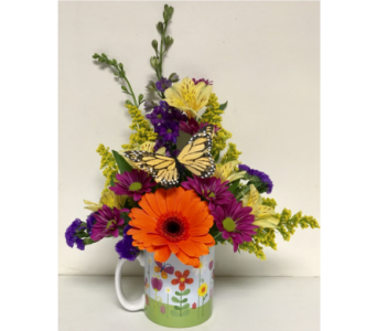On a Spring Day Mug Arrangement - One-Sided in Wyoming MI, Wyoming Stuyvesant Floral